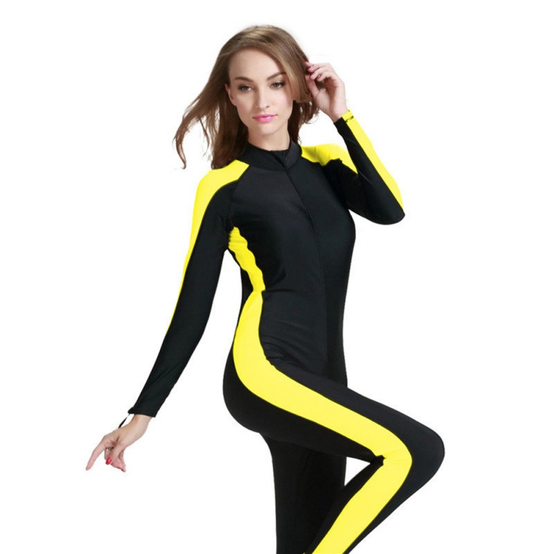 2017 Men Women Swimsuit  One-Piece Suits Plus Size 4XL Swimming Diving  Lycra Waterproof Swimming Diving Surf Full Body Cloth