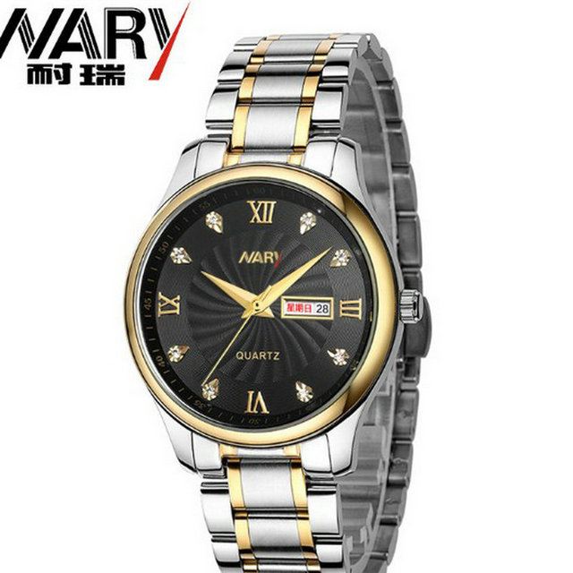 2016 new business casual watch fashion double calendar male and female students business Couples table