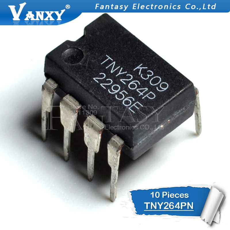 10PCS TNY264PN DIP7 TNY264 DIP TNY264P DIP-7 264PN New And Original IC