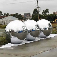 Free shipping High Brightness Shine Sphere Inflatable Mirror Ball Dia 0.6m/0.8/1m Home Garden Ornament Decoration