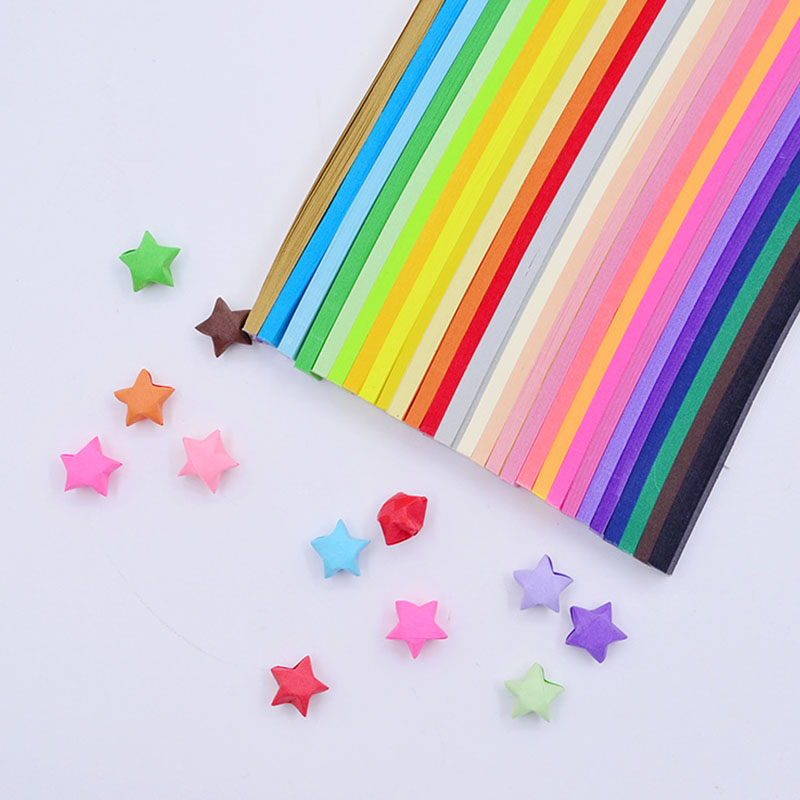 5/7/10/27 Colors Mixed Color Set Paper Craft Folding Lucky Star Origami Paper Handmade Home DIY Cards Gift Crafts Decoration
