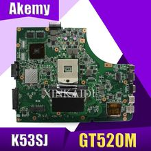 XinKaidi K53SV Материнская плата ноутбука для ASUS K53SV K53SC K53S K53 тест оригинальная материнская плата REV2.1/2,4/3,0/3,1 GT520M