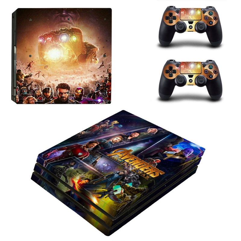 HOMEREALLY Sticker PS4 Pro Skin AVENGERS INFINITY WAR Custom Vinly Skin For Playstaion 4 Pro Console and Controller Skin Ps4 Pro