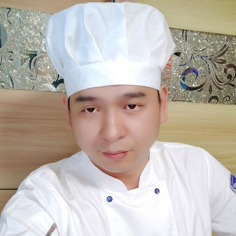 Topi Koki Pria Bekerja Jamur Putih Topi Pabrik Makanan Makanan Dapur Minum  Asap Asap Kain Katun 1257e54022