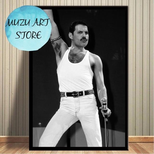 Freddie Mercury Poster Wall Art Canvas Print Home Decor No Frame
