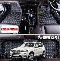 Custom Car floor mats carpet pad for BMW X1 F48 2016 / X3 E83 2006 2011/ X3 F25 2015 2016 Auto accessories Car styling floor mat