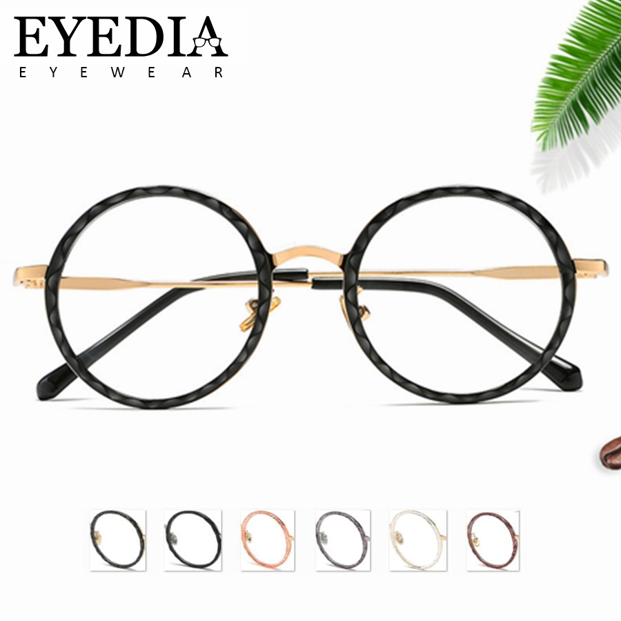 96037219e4105 New Luxury Women Men Round TR90 Glasses Frames Brand Design Optical  Prescription Computer Myopia Glasses With