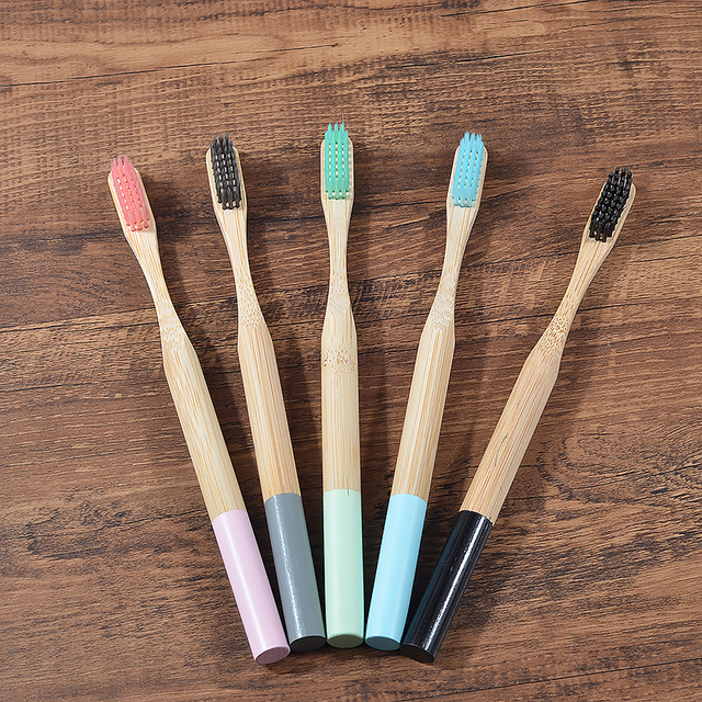 5 pack Adult Bamboo Toothbrushes Soft Bristles eco friendly cepillo dientes bambu Oral Care Toothbrush clareador de dente 2