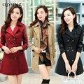 Mujeres Abrigo de invierno 2016 Nueva Qiyun Militar Ocasional Outwear Engrosamiento de Algodón Con Capucha Abrigo de Invierno Chaqueta de Piel de Abrigos Ropa de Las Mujeres D21