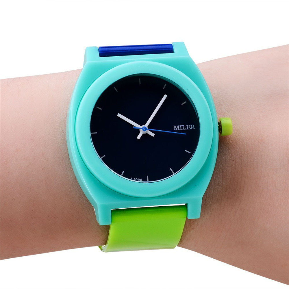 Montre Homme Brand New Multi-Colors Glass Fashion Women Men Sport  Watch Army Style Silicone Bracelet Wrist Watch  Free shipping new fashion design unisex sport watch silicone multi purpose date time electronic wrist calculator boys girls children watch