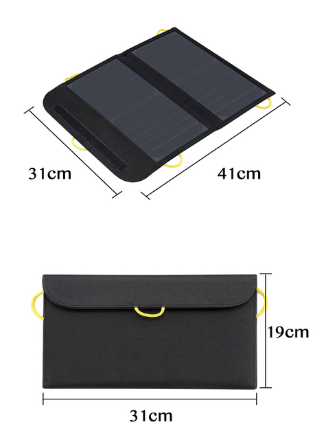 Portable Folding bag 13W 22% Efficiency Sunpower Solar Panel Charger for PowerBank Phone camera,Can buckle backpack Outdoor Camp