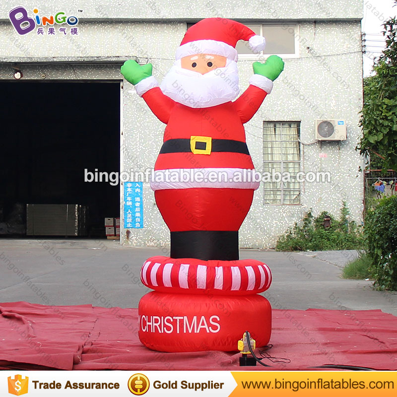 Free shipping 2 meters tall inflatable christmas rotate santa hot sale inflatable christmas old man for display toys inflatable cartoon customized advertising giant christmas inflatable santa claus for christmas outdoor decoration