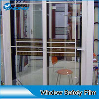 200 Microns Clear Safety Security Window Film Anti Shatter Glass Protection
