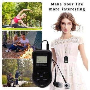 Image 4 - LCD תצוגה אישי מיני דיגיטלי FM רדיו עם אוזניות שרוך נייד דיגיטלי FM רדיו רציף לשמש עבור 50  60 שעות