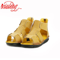 Xiuteng Brand Woman Handmade Genuine Leather Sandals Women Flats For Women Flat With Slipper Ladies Summer