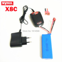 1PCS font b battery b font and charger Syma X8 X8C X8C 1 X8W 7 4V
