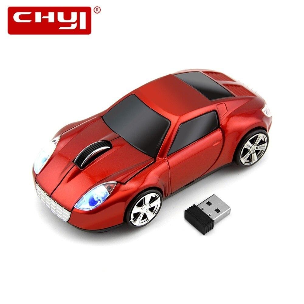 CHYI Wireless Mouse Ergonomic 2.4Ghz 1600DPI Sports Car Neunelfer 911 Coupe Race Automobile Sportscar Mice For PC Laptop Desktop