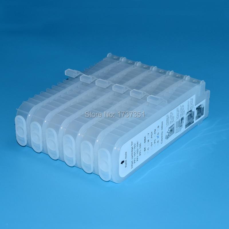 Empty PFi 102 PFi 102 refill ink cartridge for Canon ipf650 ipf655 ipf750 ipf760 inkjet printer