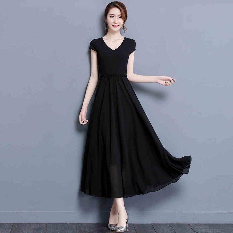 TAJIYANE 2018 Summer Dress Women Short Sleeve Beach Dress