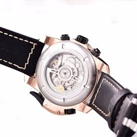 Reef Tiger Mens Watches with Complicated Dial Rose Gold Case Automatic Military Sport Watch with Rubber Strap Relogio Masculino 5