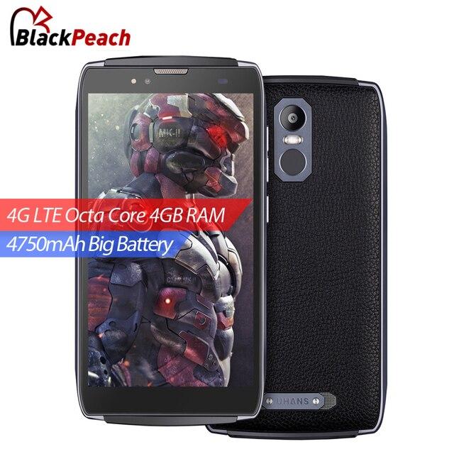 Оригинал uhans u300 4 г мобильный телефон 5.5 дюймов fhd mtk6750t octa ядро Android 6.0 4 ГБ RAM 32 ГБ ROM 13MP Cam 4750 мАч Большой батареи