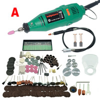 220V 180W Dremel Style Mini Drill Power Tools Grinder Variable Speed With Shaft Accessories Engraving Pen