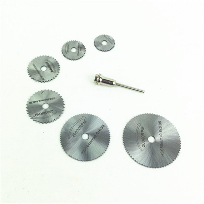 HSS Saw Blade 22/25/32/35/44/50/60mm Mini Saw Disc For Dremel Grinder Rotary Tools Cuttingsoft Metals Wood Plastic Fiberglass