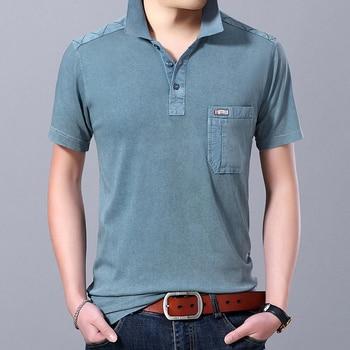 2019 nouvelle mode marque été Polo chemise hommes couleur unie coupe ajustée à manches courtes haut de gamme coton garçons Polos décontracté hommes vêtements