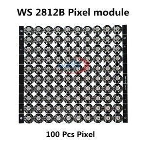 Image 1 - 50 ~ 1000 4 Pin WS2812B WS2812 LED Chip & Heatsink 5 V 5050 RGB WS2811 IC Ingebouwde