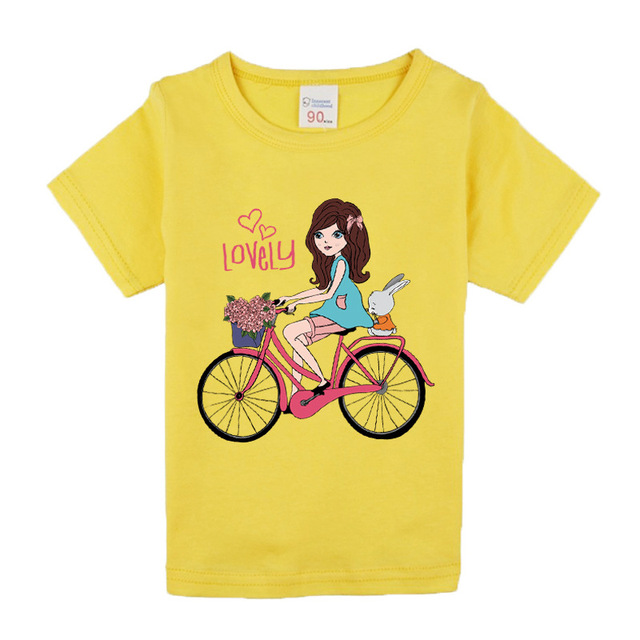 1-8 years baby Girl t-shirt big Girls tee shirts for children girl blouse sale t shirt 100% cotton kids summer clothes 1