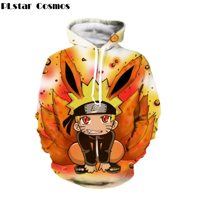 Classic Naruto Hooded Sweatshirts lovely Kid Uzumaki Naruto 3D print Hoodies Men Women fashion Long Sleeve Outerwear