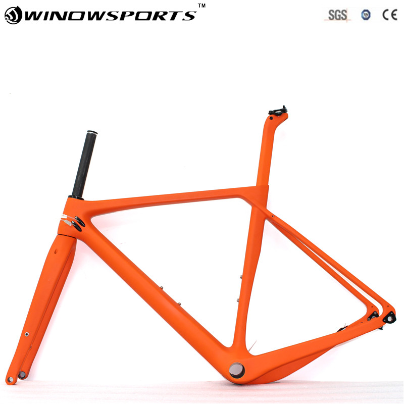 2018 Newest Carbon Gravel Bike Frame Carbon Bicycle Road Or 650B MTB Frame 142x12mm Disc Brake Cyclocross Frameset