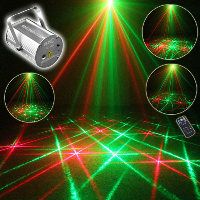 Mini Laser Light Show Projector Red Green Disco Stage Lighting Effect Dj Scanner Home Holiday