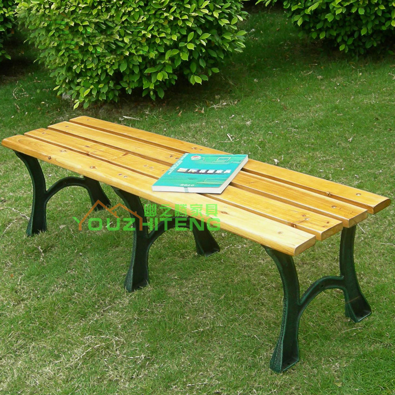Outdoor Furniture Garden Outside Vertebral Wooden Bench Chair Cast Iron  Wood Benches Square Foot Double Chair ...