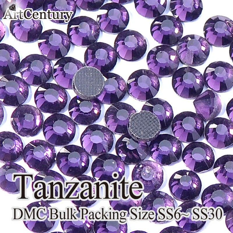 Машина вырезать яркий 200 полная SS16 материал стекло Танзанит DMC HotFix Стразы для украшения
