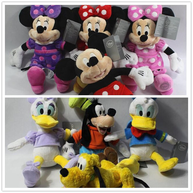 87139215ef8 1pcs 35cm MINNIE mouse mickey mouse pluto dog goofy donald duck plush Toys  Stuffed Animals Children toy soft toys kids toys