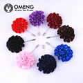 OMENG 8 Colors Men's Lapel Pins Brooches For Wedding Suits   Handmade Boutonniere Accessories Uxedo Corsage Brooch Pins OXZ064
