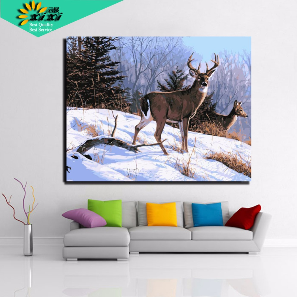40*50 cm Digital DIY oil painting on canvas wall art ...