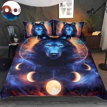 Atrapasueños por JoJoesArt juego de cama reina Luna Eclipse edredón funda Lobo cama Set unids 3 piezas galaxia ropa de cama para niños adultos