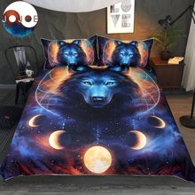 Dream Catcher by JoJoesArt Bedding Set Queen Moon Eclipse Duvet Cover Wolf Bed Set 3pcs Galaxy Print Bedclothes For Kids Adults(China)