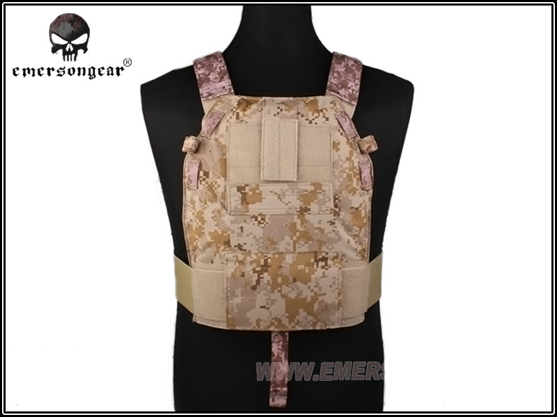ФОТО EMERSON Tactical Vest LBT6094 Style SLICK Medium Plate Carrier Chest Protective Molle Military Hunting Vests Armor EM2982 AOR1 ^