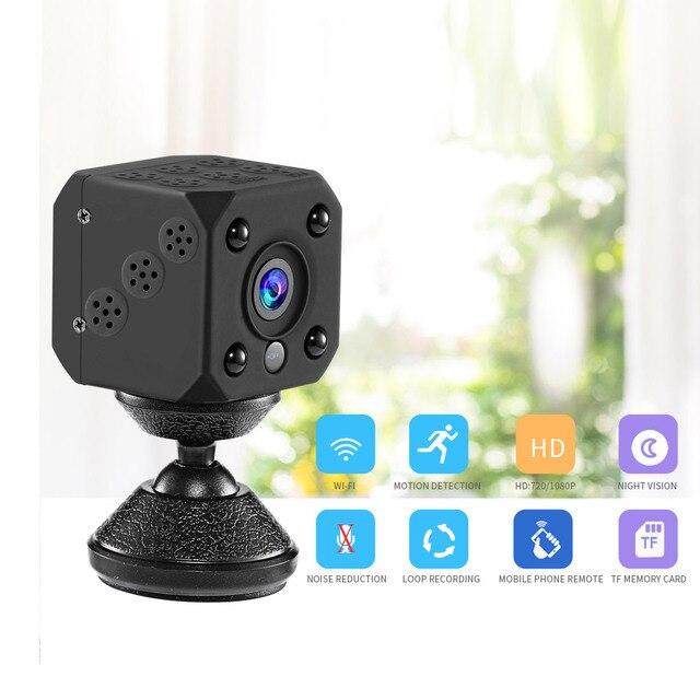 HD IP كاميرا أمنة للبيت واي فاي كاميرا 30 متر الأشعة تحت الحمراء للرؤية الليلية الرياضة المحمولة الذكية كاميرا فيديو لاسلكية 64G بطاقة SD