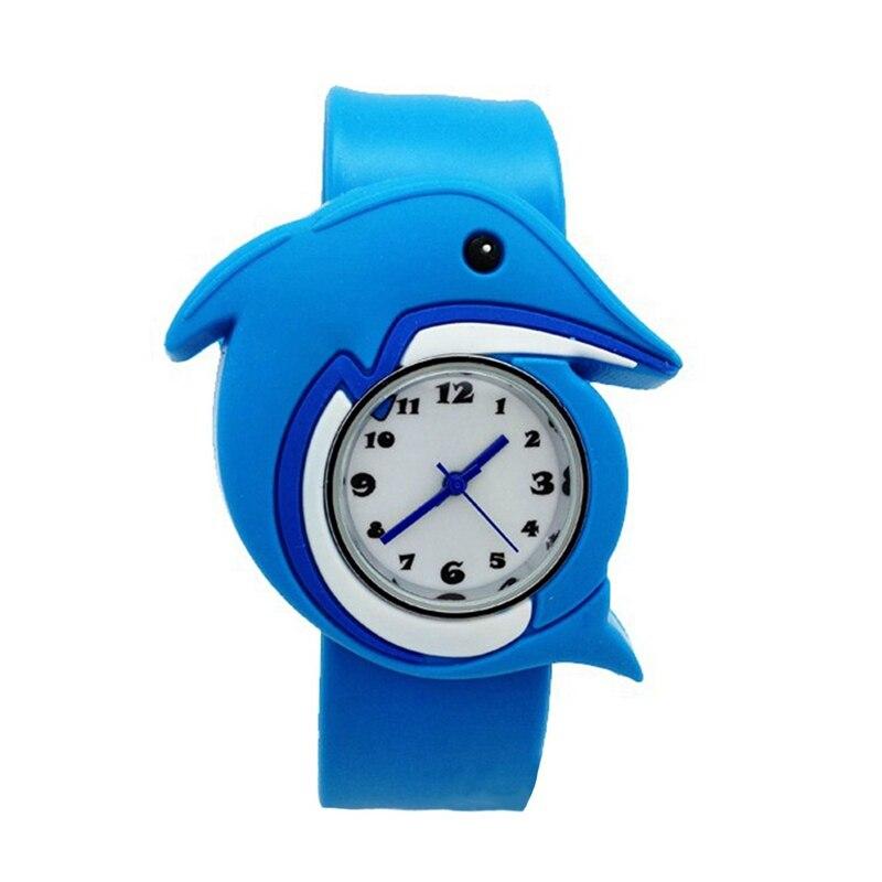 Children's Watches Cartoon Kids Wrist Baby Watch Clock Quartz Watches For Gifts Relogio Montre Dolphin