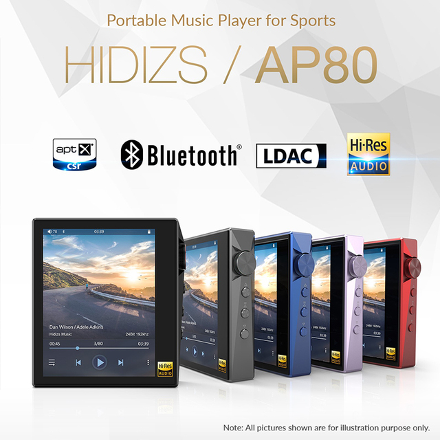 Hidizs AP80 Hi-Res ES9218P Bluetooth HIFI Music MP3 Player LDAC USB DAC DSD 64/128 FM Radio HibyLink FALC DAP 2