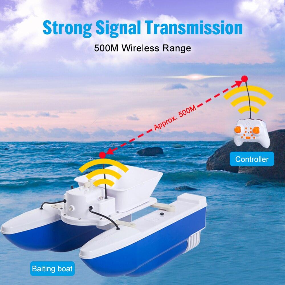 Lixada Wireless Remote Control Folding Fishing Bait Boat Smart Fish Finder Device 500m Wireless Range Fishing Tool