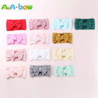 50pcs Cable Knit Nylon Bow Headwrap, One size fits all Baby headbands, wide nylon headbands, baby headbands, Knot bow headwear