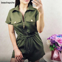 omen Summer jumpsuit Sexy bodysuit Military style Solid Casual Playsuits new Overalls 2019 Summer Short Rompers womens jumpsuit