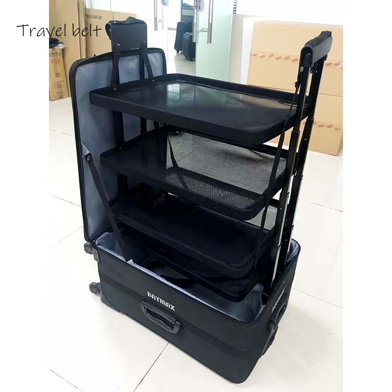 Travel Belt Multifunction Rolling Luggage  Business  Travel Bags High Quality Long Distance Travel Suitcase Wheels