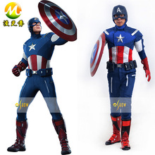 Hot Sale Marvel's The Avengers Captain America Cosplay Costume Roleplay Superhero Captain America Jacket