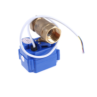 NEW 3/4 Electric Motor Valve Brass, DC12V Motorized Valve With 3 Wires(CR02), DN20 Electric Valve For Water Control Wholesale
